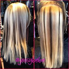 bleach Barbie blonde to multi dimensional blonde beauty with lowlights!