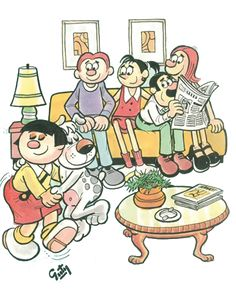 la familia burron comics | diarias se resuelven gracias a la sinergia de la comunidad. Por Gabriel Vargas