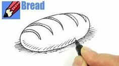 how to draw a loaf of bread