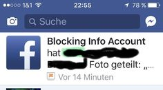 Scam  BlockingInfoAccount  Betrug im Internet auch bei Facebook scam (Betrug im Internet) gibt es natürlich schon sehr lange. Auch bei FACEBOOK und Co.  Seit kurzem werden uns jedoch ganz perfide Arten gemeldet.  > Bitte diese NEWS an Freund teilen damit Deine Freund auch gewarnt sind.  Man erhält plötzlich eine FACEBOOK-Nachricht vom Absender Blocking Info Account.  Klickt man die Nachricht an könnte man auf den ersten Blick meinen dass es eine Mitteilung von FACBOOK ist (evtl. eine…