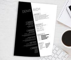 Clean Black&White Resume Template