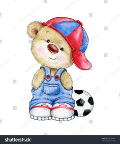 Cute Teddybär Junge mit Ball Stockillustration 286134107 Illustration Cute Teddy bear boy with ball Tatty Teddy, Bear Cartoon, Cute Cartoon, Cartoon Wallpaper, Baby Motiv, Teddy Bear Pictures, Bear Coloring Pages, Bear Paintings, Boy Drawing