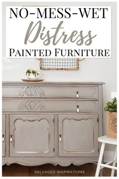 No-Mess-Wet-Distress Painted Furniture Distressed Furniture Furniture NoMessWetDistress Painted Distressed Furniture Painting, Paint Furniture, Furniture Makeover, Cool Furniture, Bedroom Furniture, Kitchen Furniture, How To Distress Furniture, Luxury Furniture, Furniture Cleaning
