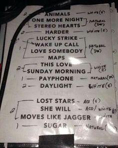 "Playlist maroon 5 ""V"" tour!"