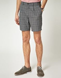 ASOS Smart Shorts in Check