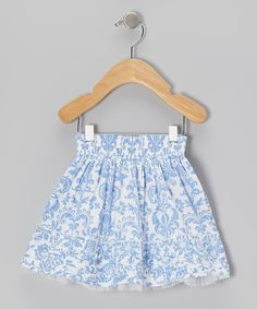 Take a look at this Blue Damask Full Skirt - Infant, Toddler & Girls by Trish Scully Child on #zulily today!
