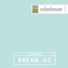 Colorhouse DREAM .02:  Robin's egg. Familiar and comfortable. Feels like home. Use in kitchens and baths.