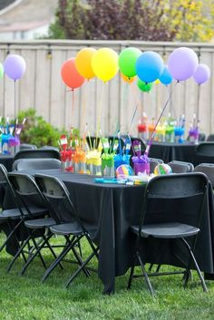 49 Splendid Party Table Decor Ideas For Sixteenth Birthday – Food: Veggie tables Artist Birthday Party, Birthday Painting, Rainbow Birthday Party, 6th Birthday Parties, Birthday Ideas, Rainbow Parties, Kunst Party, Art Themed Party, Sixteenth Birthday
