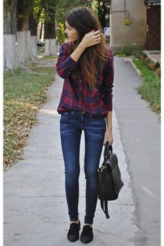 In love with this classic fall outfit. Perfect for school!