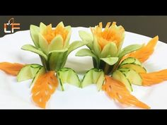 How To Make Cucumber Flower Carving Garnish Vegetable Decoration, Food Decoration, Garnishing, Food Garnishes, Embroidery Stitches, Hand Embroidery, Embroidery Designs, Cucumber Flower, Amazing Food Art