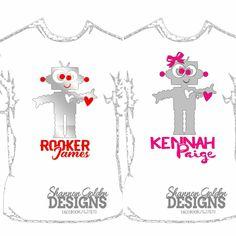 Boy Robot or Girl Robot Kids Valentine's Day Shirts