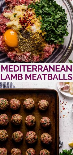 mediterranean lamb meatballs mediterranean lamb meatballs plays well with butter playswithbutter plays well with butter the easiest juicy 038 tender baked lamb meatballs nbsp hellip meal prep meatballs Greek Recipes, Paleo Recipes, Greek Roasted Potatoes, Lamb Dishes, Meal Prep Bowls, Meatball Recipes, Healthy Meal Prep, Mediterranean Recipes, Clean Eating Snacks