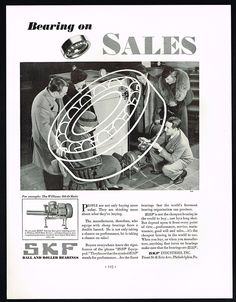 1934 SKF Bearings Williams OIL O Matic Burner Furnace Print AD | eBay