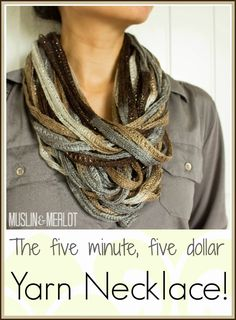 Here's a 5-dollar, 5-minute, no-sew, no-knit project that anyone can make!