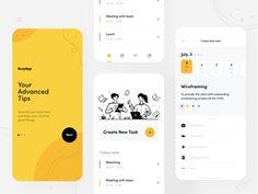 Busy App by Afterglow Form Design Web, Login Design, Web Design Trends, Design Resume, Mobile Application Design, Mobile Web Design, Ui Kit, To Do App, App Design Inspiration