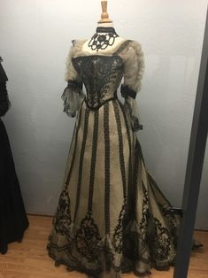 """sineads:  """" half mourning evening gown, early 1900s, Santa Ynez Valley Historical Museum  """""""