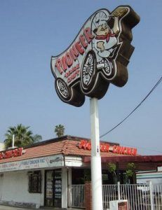 Pioneer Chicken - while I don't know if I ever ate here, it was a local landmark.