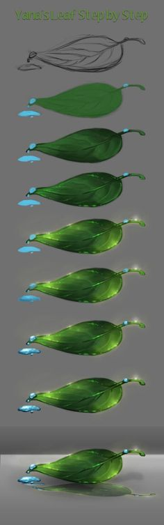 Leaf WMW Step by Step by Tobyana.deviantart.com on @DeviantArt