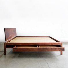 mid century platform bed