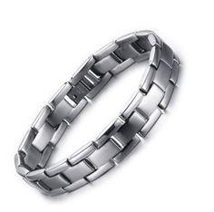 71267289602d Delicate New Men s Fashion Simple Silver WatchBand Titanium Steel Chain  Bracelet