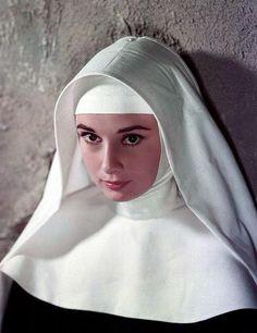 """Audrey Hepburn as Sister Luke in """"The Nun's Story"""" (1959)"""
