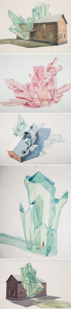 Source: http://trendland.com/los-carpinteros-geometric-sculpture-watercolors/