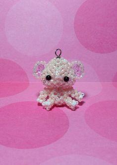 Miniature Japanese Seed Bead Elephant Charm Doll