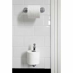 Perrin and Rowe Traditional Wall Mounted Spare Toilet Roll Holder #TraditionalBathrooms #toiletRollHolder