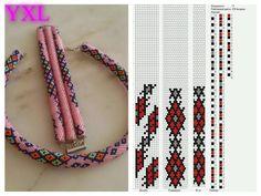 11 around bead crochet rope pattern Bead Crochet Patterns, Bead Crochet Rope, Peyote Patterns, Beading Patterns, Crochet Beaded Bracelets, Beaded Jewelry, Diy Jewelry, Collar Redondo, Beads
