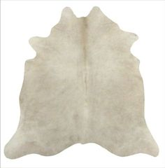 Cow Hide Area Rug in Beige