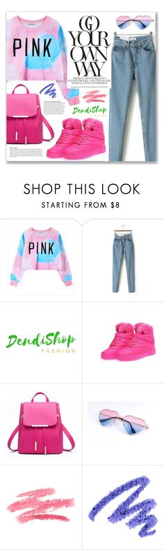 """pink (dendishop)"" by myduza-and-koteczka ❤ liked on Polyvore featuring Anja and Yves Saint Laurent"