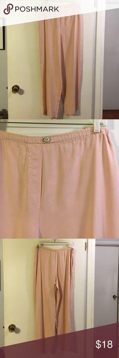 Express 100% silk pants. Elastic waist. Flowy Express Pants