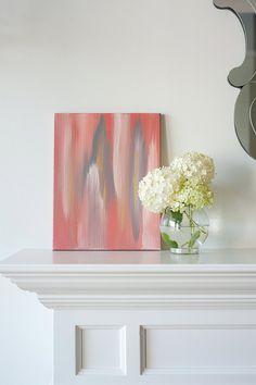 redo canvas in bedroom ... abstract ikat-ish print