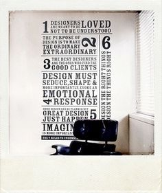 cool word designs to put on the walls