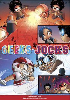 Geeks Vs Jocks: The War promo flyer. Coming June 2015