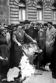 Burning Stalin's picture, Hungary, 23 October until 10 November 1956