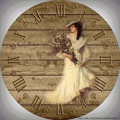 Decoupage Vintage, Decoupage Paper, Shabby Vintage, Clock Face Printable, Retro Alarm Clock, Domino Jewelry, Exo Anime, Handmade Clocks, Clock Art