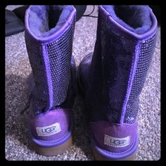 Purple UGGS Size 10, only worn a few times UGG Shoes Winter & Rain Boots