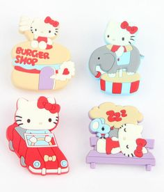 #Supercute rubber clips - gather together recipes, memories, or paperwork! From the #HelloKitty Theme Park collection!