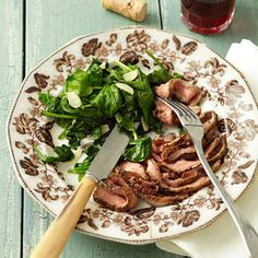Balsamic-Dijon Flank Steak With Sautéed Spinach and other low cal comfort food dinners