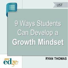 Help your students develop a growth mindset with this simple chart.