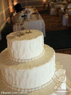 "Design W 0355 | Butter Cream Wedding Cake | 12""+8"" | Serves 75 | Textured Butter Cream | Standard Price"