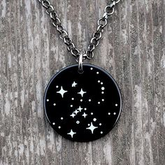 Orion Constellation Necklace - science and astronomy jewelry, great gift for a space or science fiction enthusiast