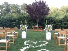 This is at Rand Bryan.  I love the heart shapes on the way up the aisle.