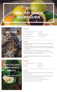 14 Delicious and Healthy Snack Recipes [Guide]   Institute for Integrative Nutrition #IIN #healthysnacks #integrativenutrition
