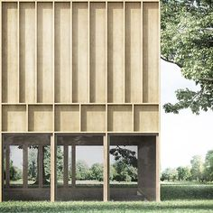 Since 1998 the Web Atlas of Contemporary Architecture Pavilion Architecture, Organic Architecture, Modern Architecture House, Residential Architecture, Architecture Details, Wooden Facade, Rem Koolhaas, Architectural Section, Facade Design