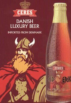 Ceres beer, from Denmark