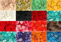 Small Button Mix 50g 150 buttons approx