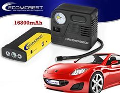 Jump Starter with Air Compressor 16800mAH High Capacity Multi-function Portable Power Bank for iPhone Samsung and Android Car Starter Window Breaker and Seatbelt cutter Ultra Bright LED flashlight with strobe and SOS Modes Charges your laptops, Smartphones, tablets, Cameras and USB-charged Devices. Ecomcrest http://www.amazon.com/dp/B00X454EBY/ref=cm_sw_r_pi_dp_zmsuwb0SB3XD8