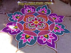 Pongal Rangoli Kolam 13 Simple Rangoli Designs Images, Rangoli Designs Flower, Colorful Rangoli Designs, Rangoli Ideas, Beautiful Rangoli Designs, Kolam Designs, Easy Rangoli, Peacock Rangoli, Rangoli Colours